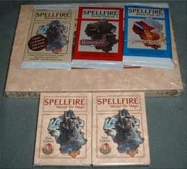 Unopened booster packs from Spellfire: The Worlds Most Successful CCG.