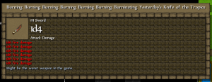 It's burning for *you*.